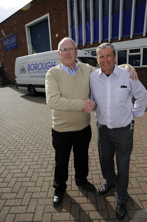 Southend Standard: Goodbye and good luck - David Scrivener and MD David Coombes