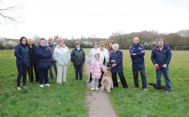 Southend Standard: Residents at the fields
