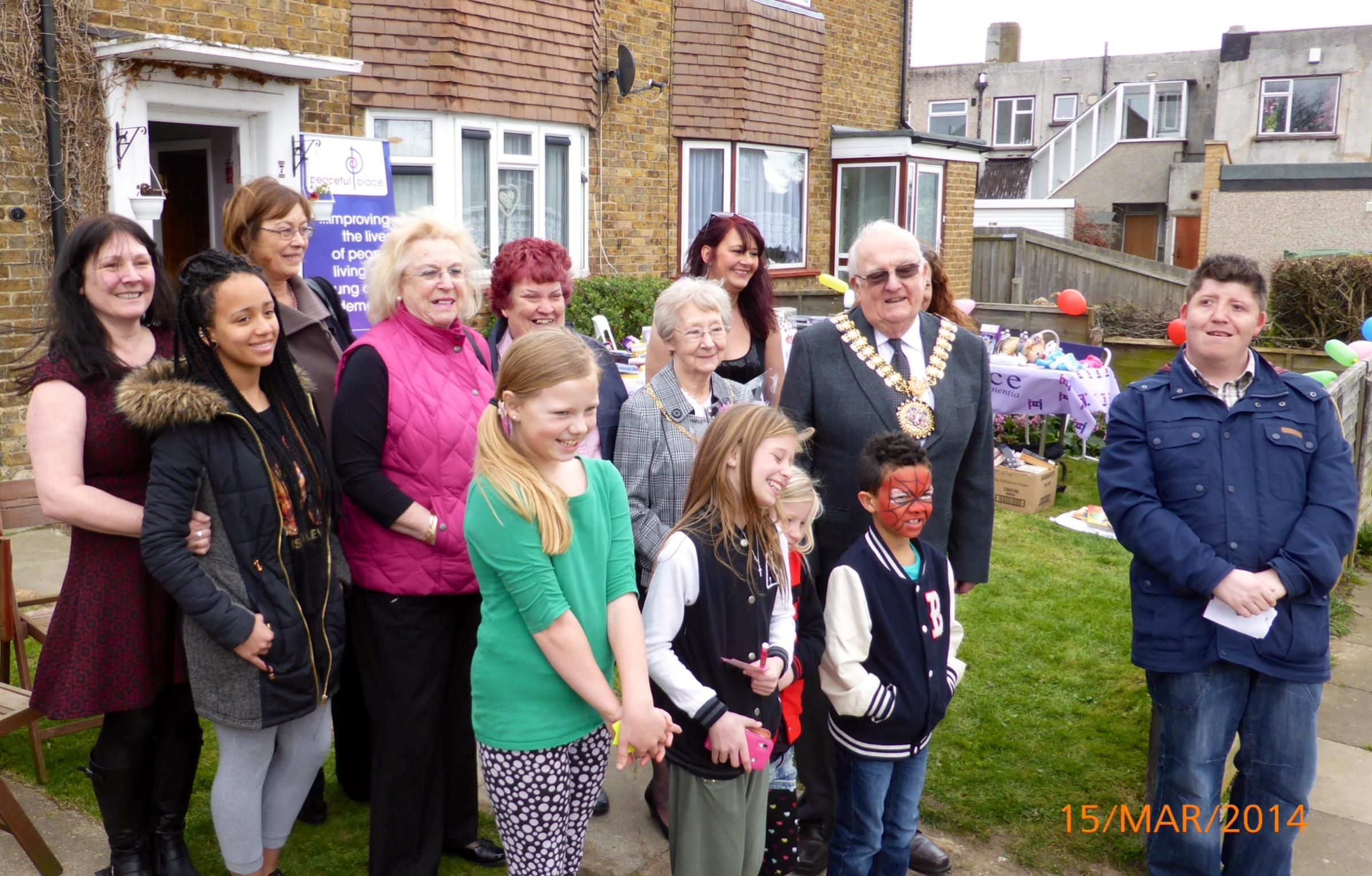 Fundraisers – Robbie Norton with Southend mayor Brian Kelly, the mayoress and others