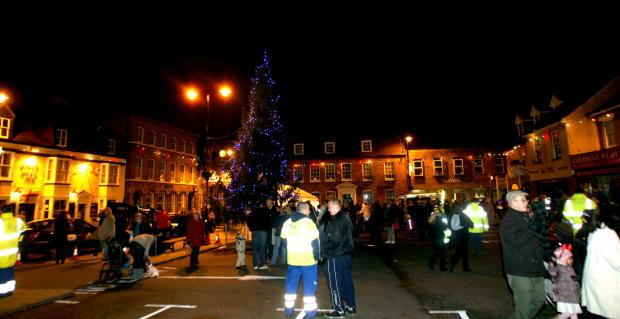 Rochford Market Square the annual Chritmas tree and light switch-on celebration