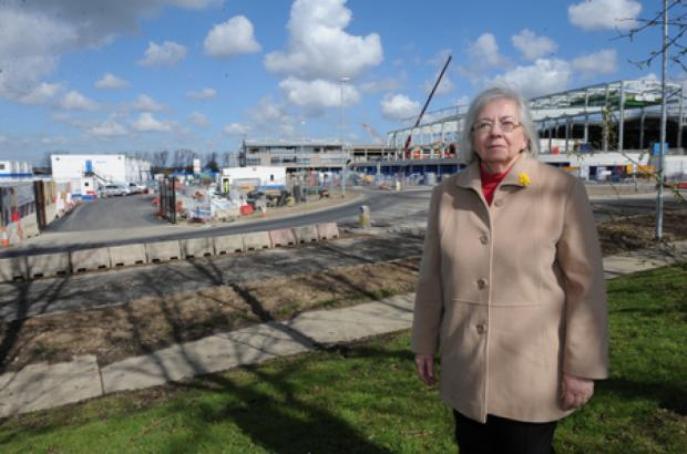 Councillor Sandra Hillier at the Courtauld Road site