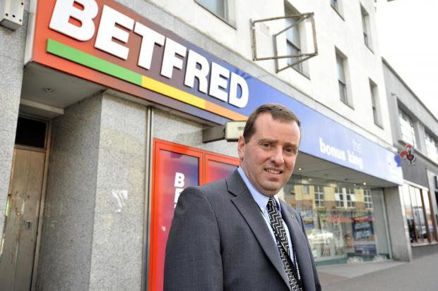 Councillor Jonathan Garston, outside Betfred, in London Road, Southend
