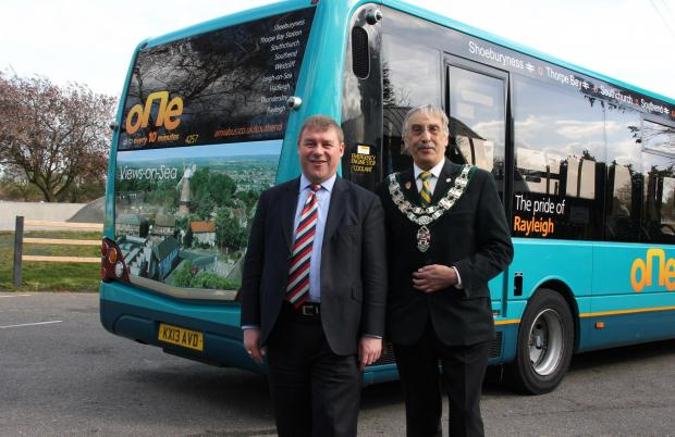 Mark Francois MP and Rayleigh Town Council Chairman launch The Pride of Rayleigh