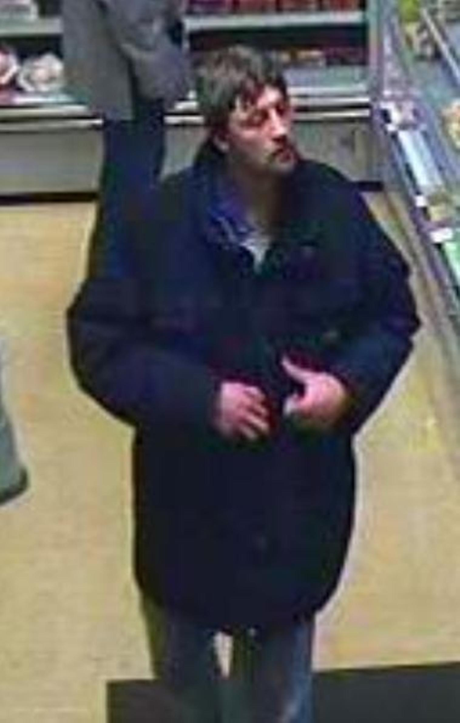 The man is alleged to have gone into the store in the High Street at 4pm on Monday, January 6