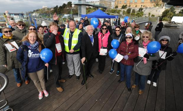 Southend Standard: All smiles - some of those who joined the Southend Pier walk