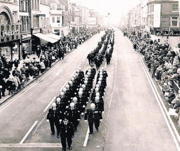 Southend Standard: View of the past – the old Southend Police officers on a march