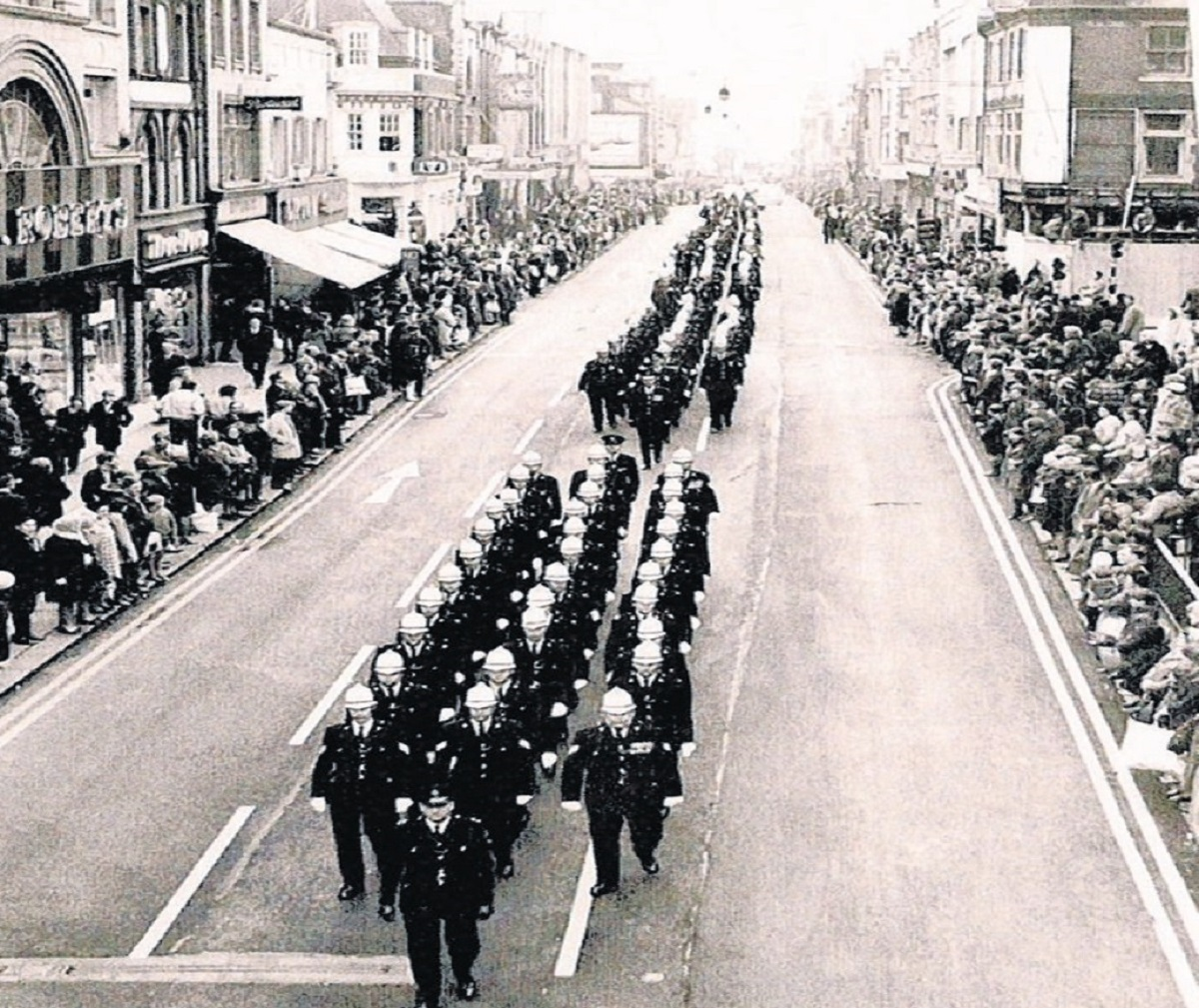 View of the past – the old Southend Police officers on a march