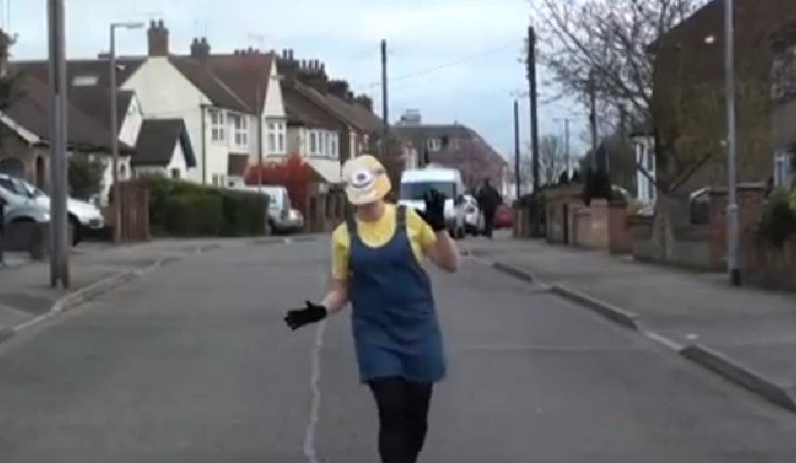 A Despicable Me minion makes an appearance as Stanford-le-Hope does happy