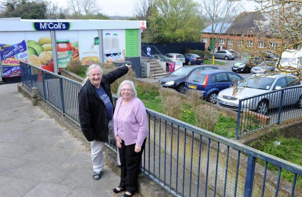 Sandra and Stephen Hillier outside the Triangle Shops