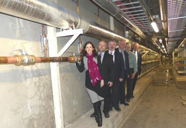Oxygen on tap – Zoe Smith, director of estates, David Searle, engineer, Greg Niccol, maintenance manager, Robert Cox, clerk of works, David Bascombe, senior engineer and Nick Hann, head of estates maintenance