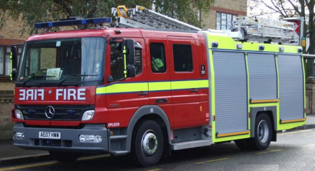 Two people rescued in sheltered accommodation fire