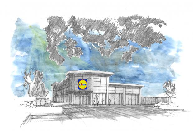 Artist's impression - How the store could have looked