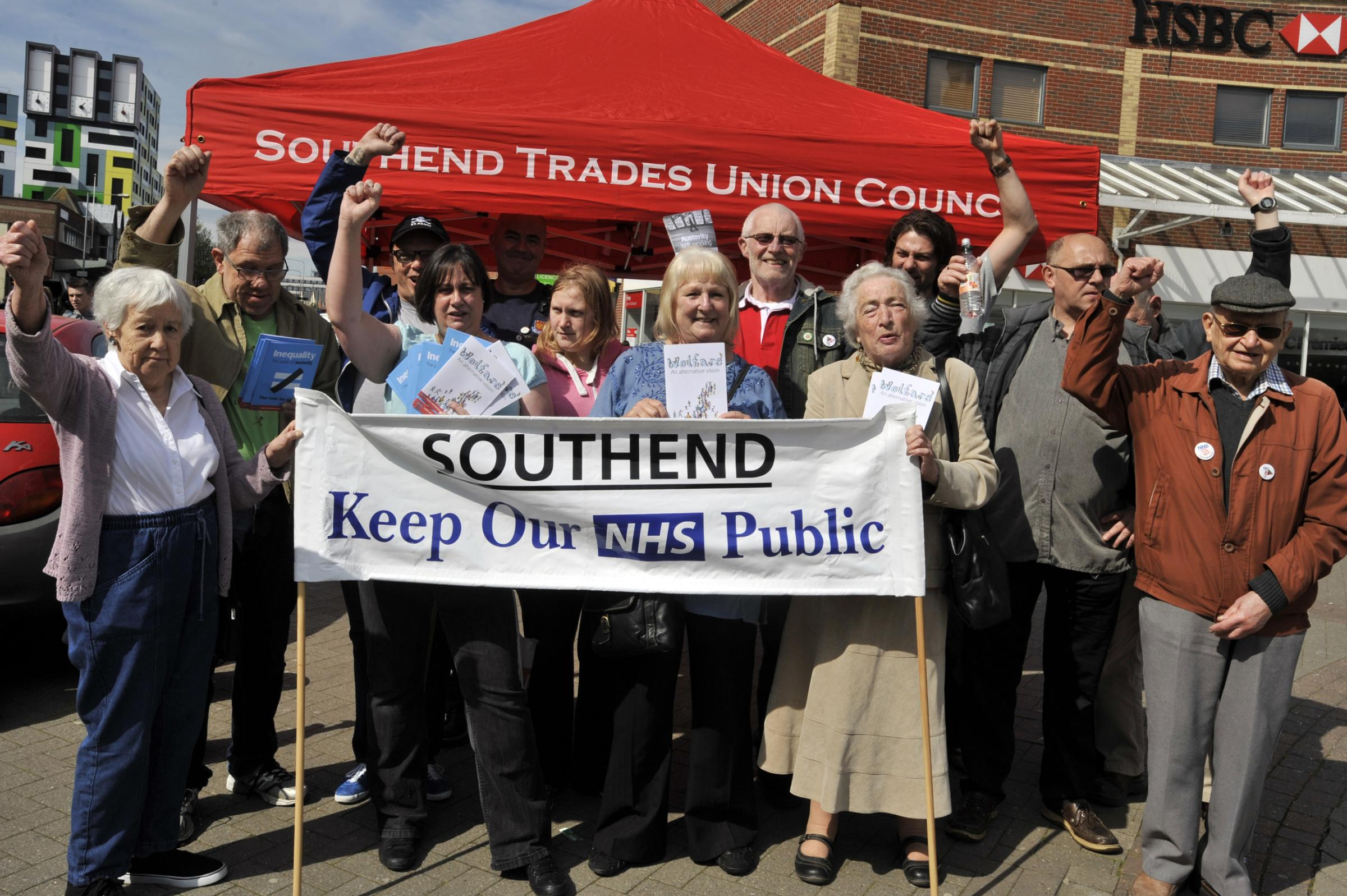 No to cuts – campaigners collected names on petitions