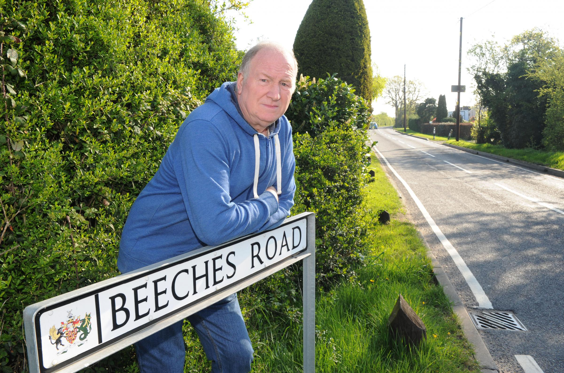 Silt concerns - Rawreth Flooding Action Group chairman Peter Plummer in Beeches Road