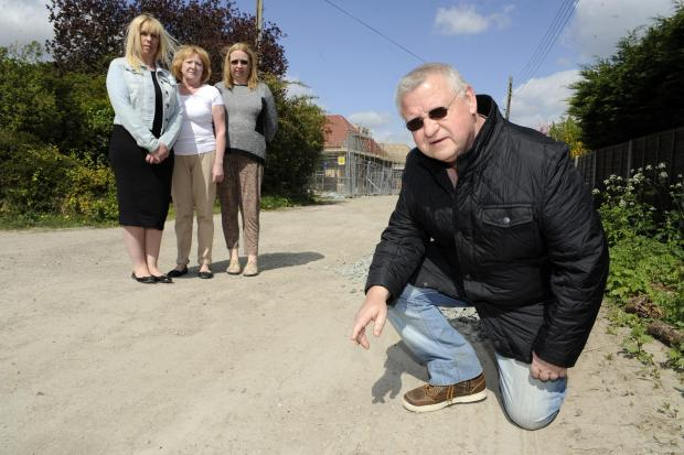 Angry - residents say developers have ruined their road