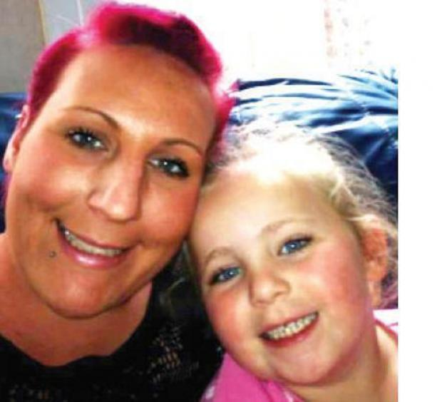 Heartbroken: Mum Karen Glover with Tahlia