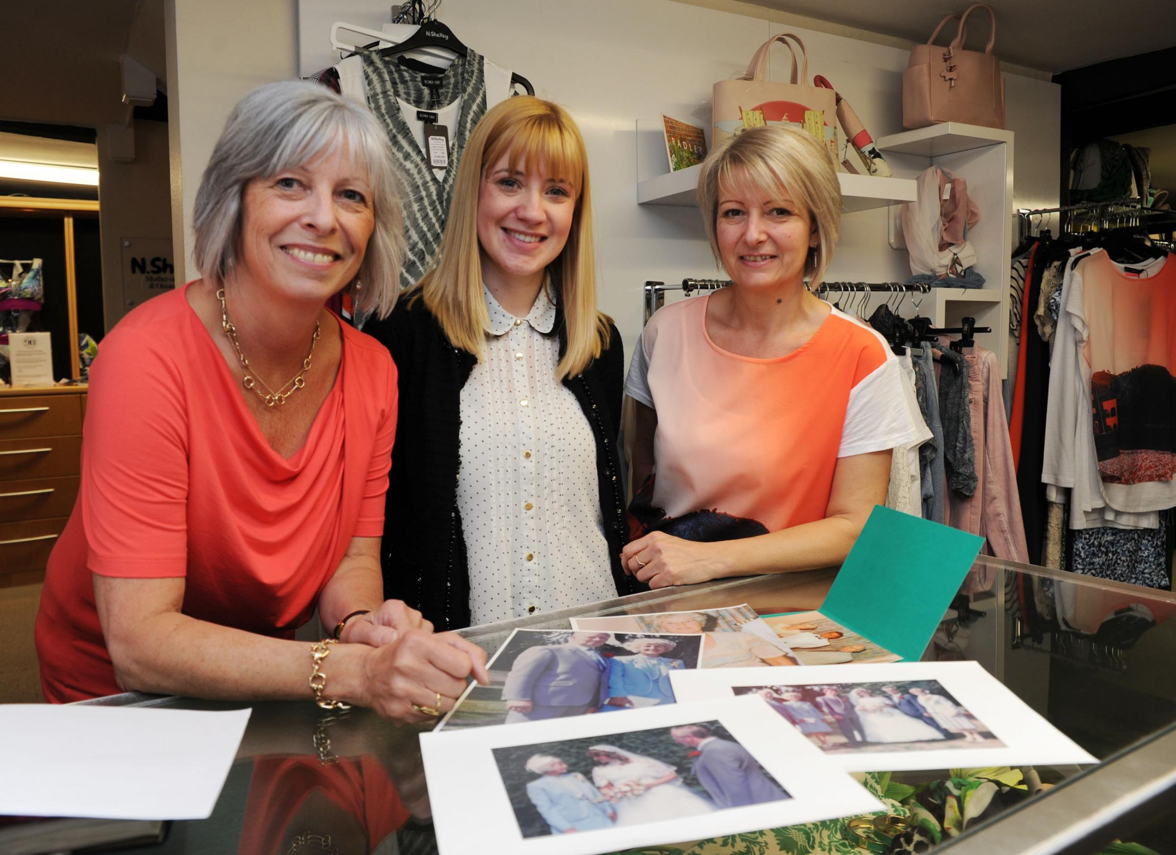 Anniversary year – N Shelley staff Julie Cimpey, Laura Phipps and Maggie Cousens