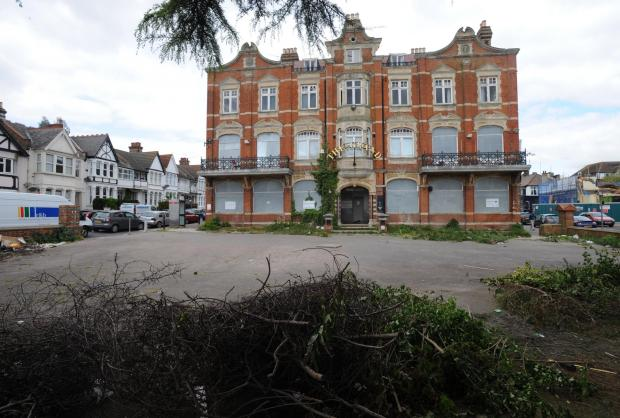 The Grand Hotel in Broadway, where workmen have started clearing vegetation