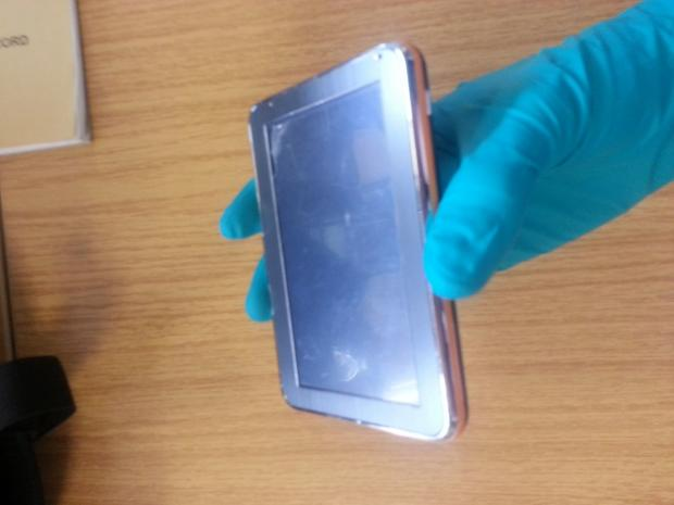 Is this stolen electronic tablet yours?
