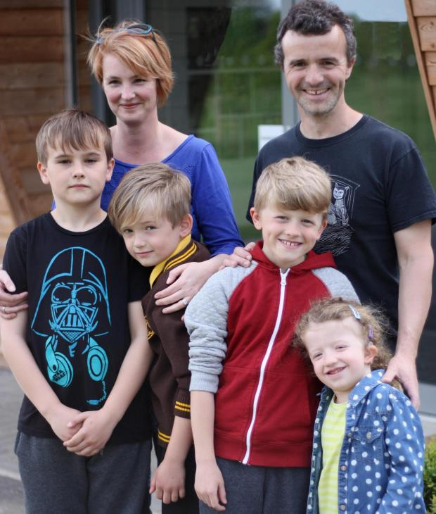 Southend Standard: Walking for HARP - Daniel Hodgson, HARP Fundraiser Catherine Hodgson, Harry Hodgson and Oliver, Nathan and Phoebe Martin will all be taking part