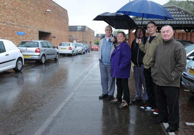 Angry – people in Crosse Court, Laindon, whose parking scheme has been shelved