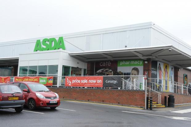 The incident occurred in the Asda car park at Pipps Hill
