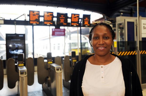 Easy travel – Heather Ffrench at the railway station