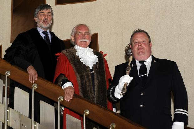 Mayor Chris Walker, centre, handed out the honours