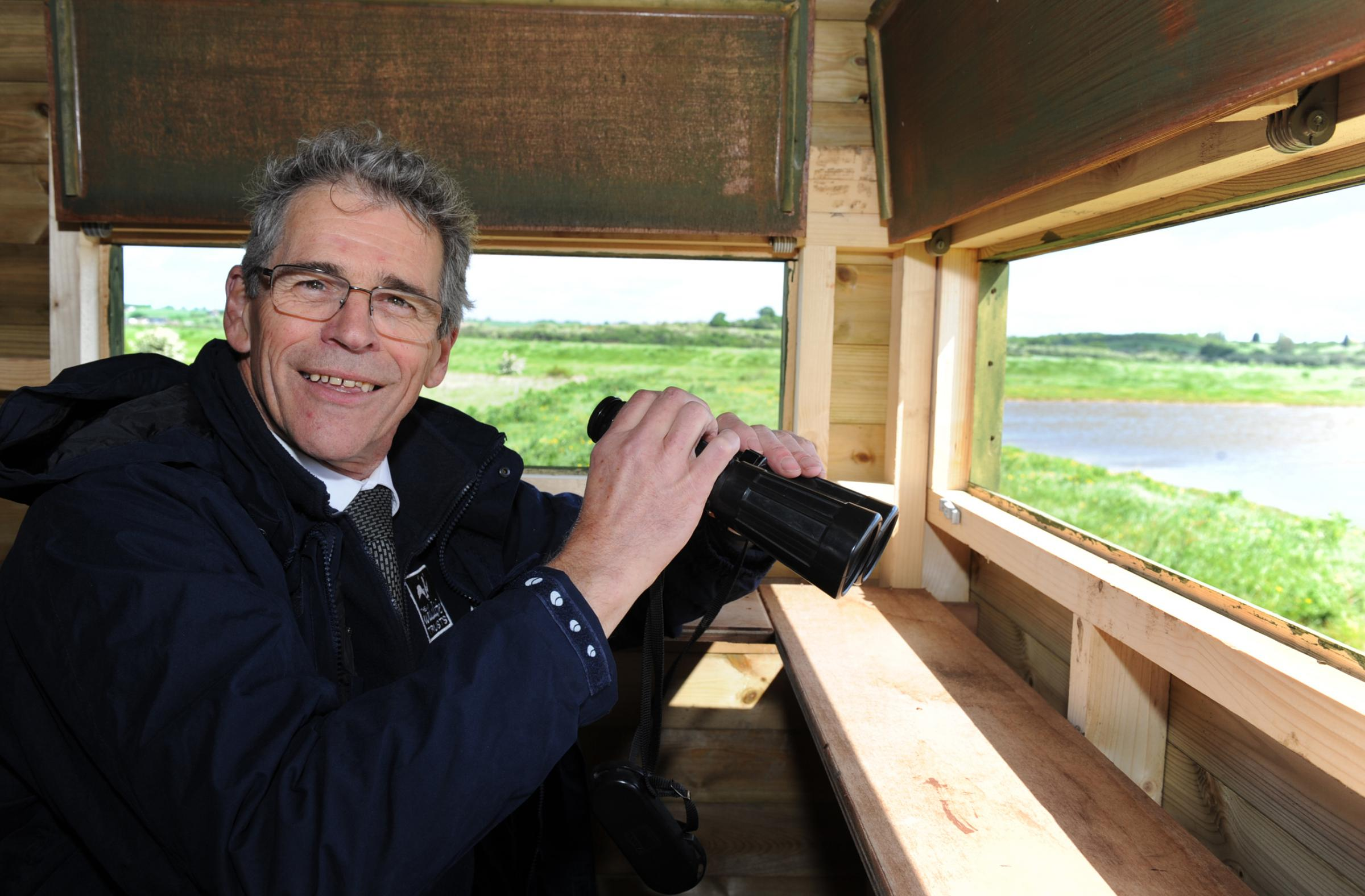 John Hall, chief executive of Essex Wildlife Trust, opens wildlife haven