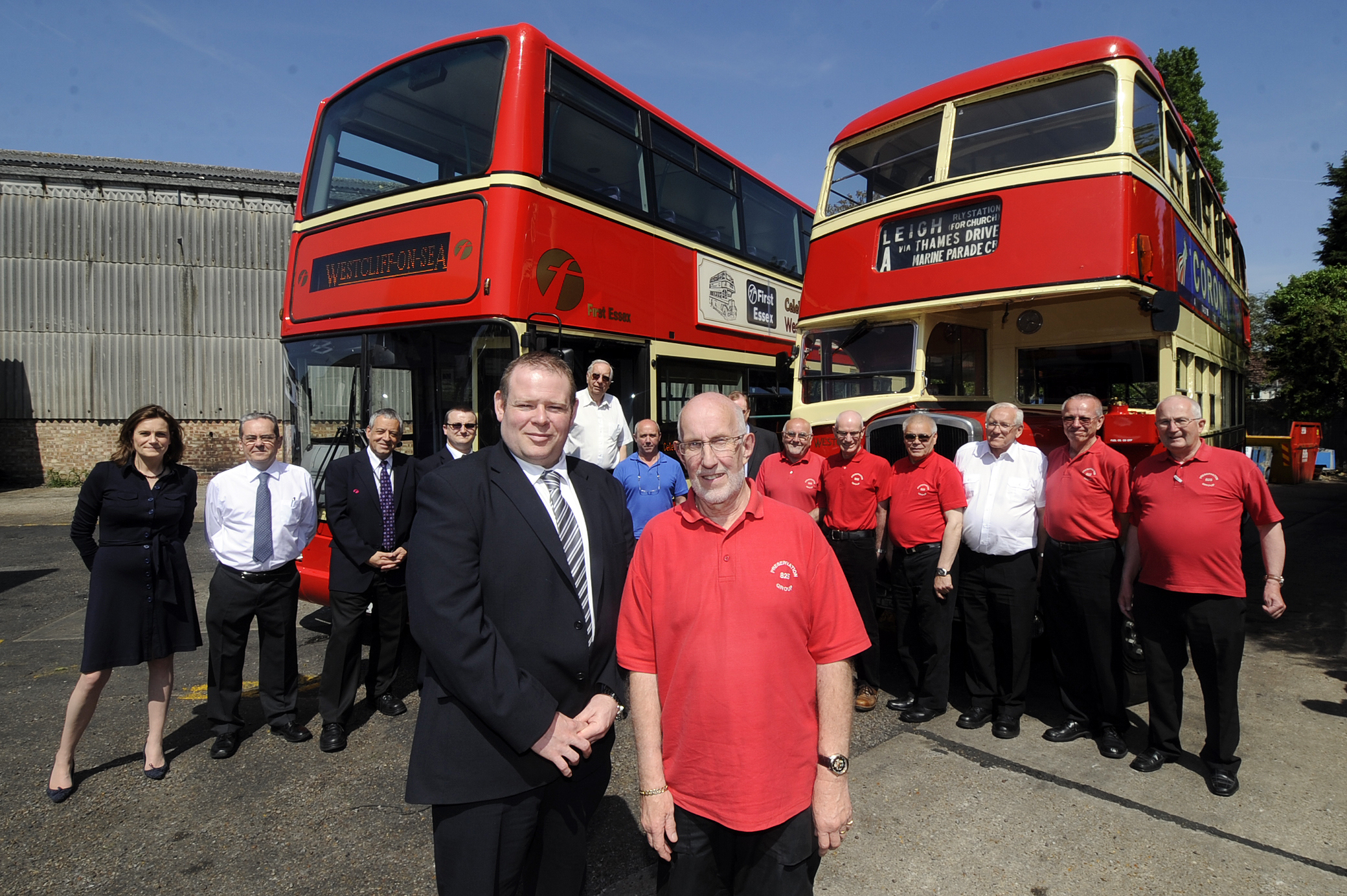 On the road – the refurbished double decker bus is in action