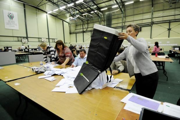 Southend Standard: Votes poured out of a ballot box