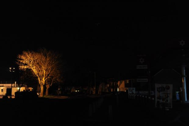 Streetlights out in Basildon
