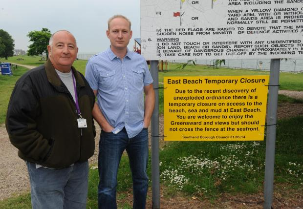 Not before time - Shoebury Independent councillors Mike Assenheim , and Nick Ward
