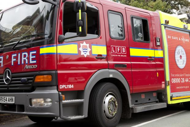 Bungalow fire in Westcliff