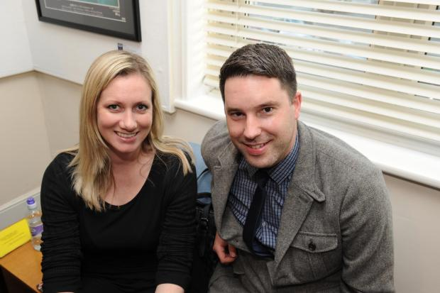 Southend Standard: Film-maker Jane Gull and Duncan Pavling at the Southend Film Festival launch
