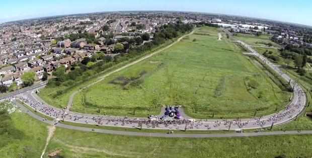 Video: Aerial footage of runners at Southend Half Marathon