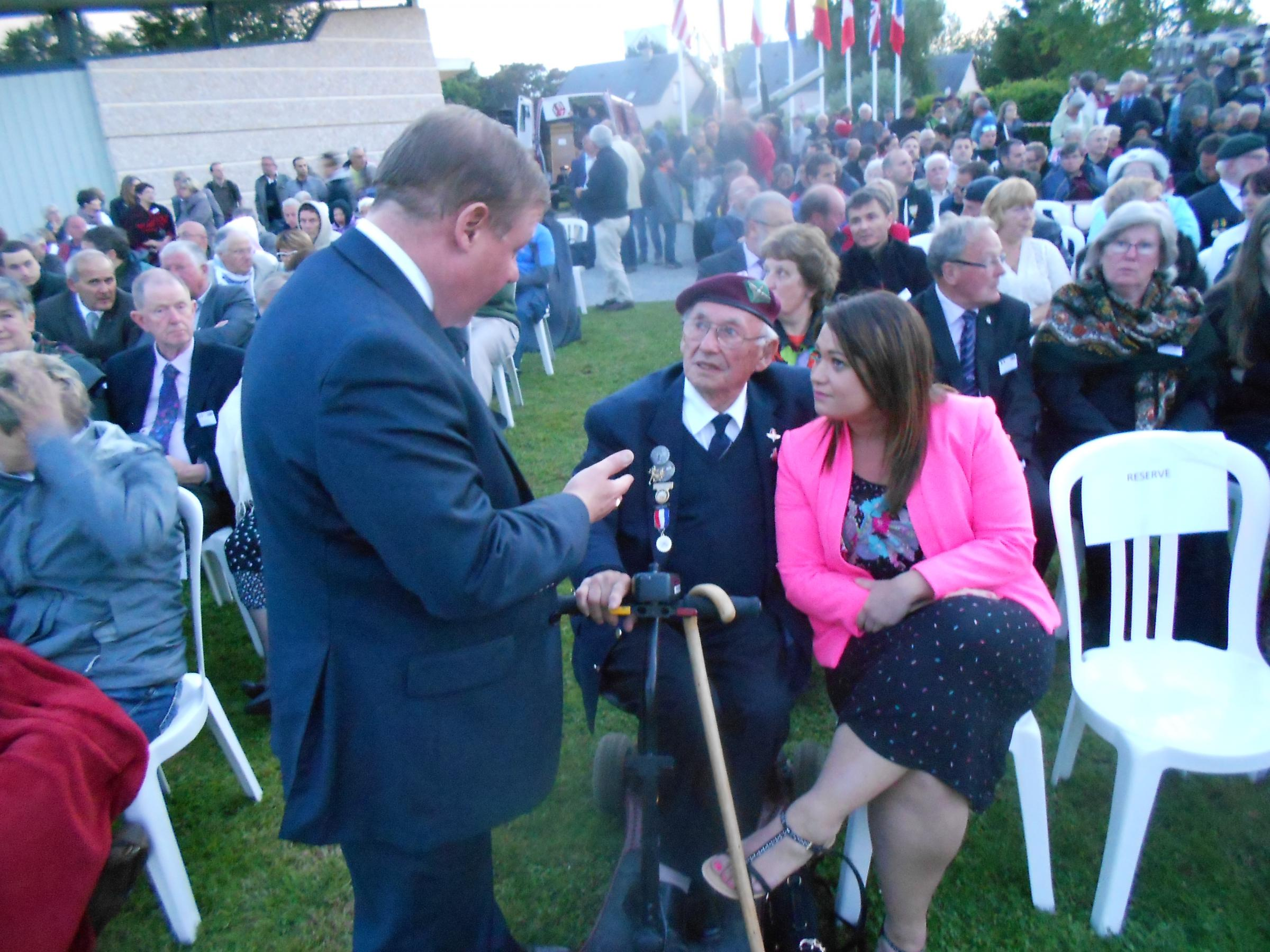 Never forget - Mr Francois, chatting to D-Day veterans and their families in Normandy