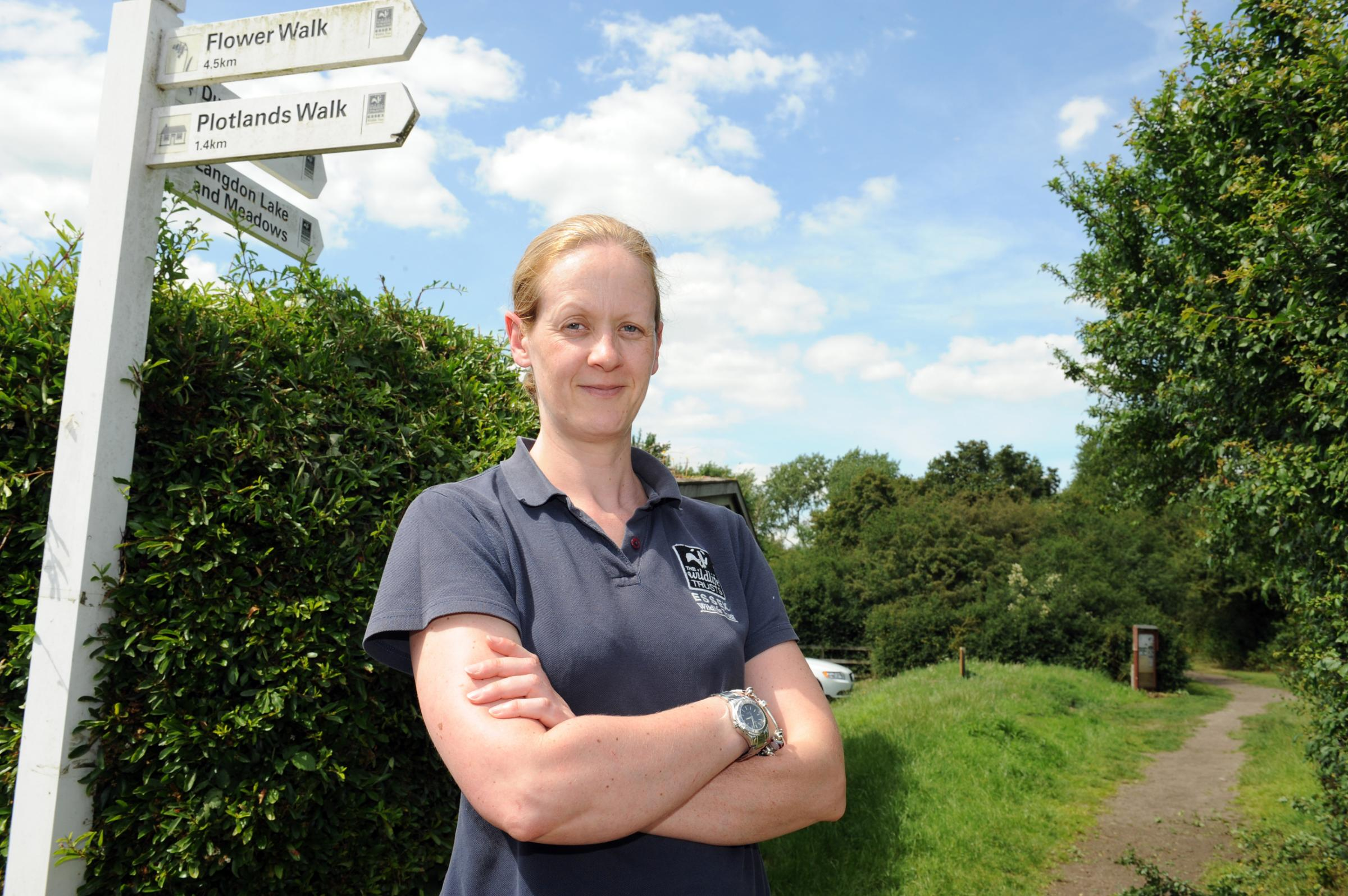 Sue Adams – by one of the pathways that is going to be improved at the reserve