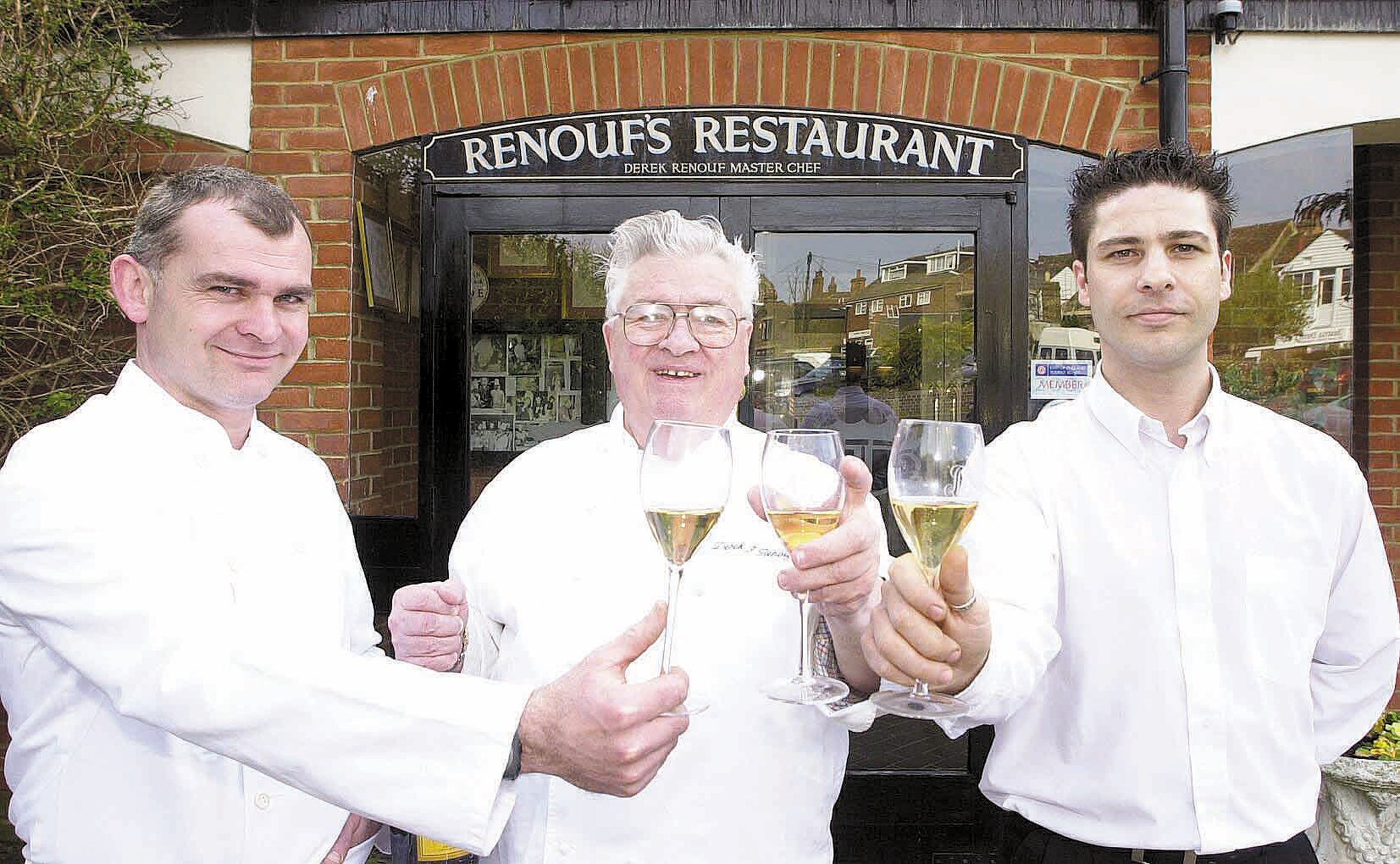 Well-respected - chef and hotelier Derek Renouf (centre)