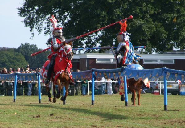 Take that - jousting is always a big draw at the Southend Robin Hood Country Show