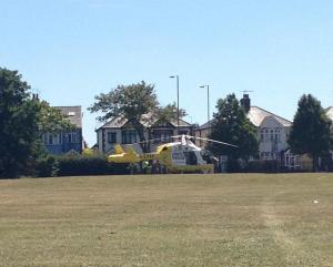 Air ambulance lands following Southend accident