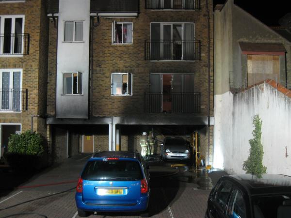 Socata House in Westcliff - pictures by Essex Fire Service