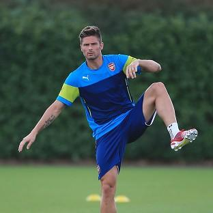 Arsenal's Olivier Giroud picked up