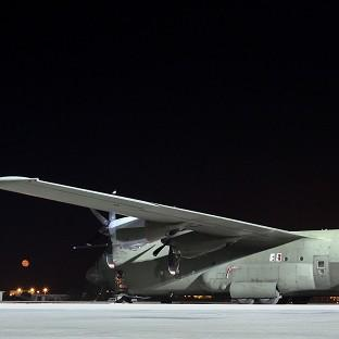 The Hercules aircraft formed part of an international effort to resupply th