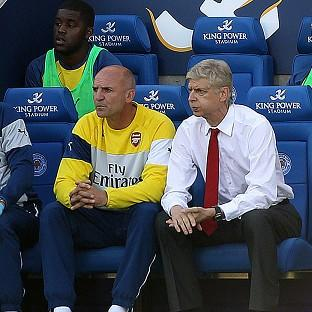 Arsene Wenger, right, oversaw a frustrating 1-1
