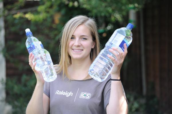 Christina Ravinet will be using 10 litres of water a day for five days