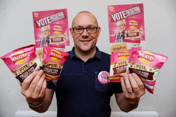 Here's hoping – Paul with his pulled pork crisps