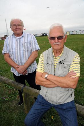 Hands off - Peter Grubb and Ray Bailey, of the Friends of Shoebury Common