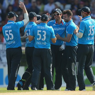 James Anderson, second right, picked up two early wickets