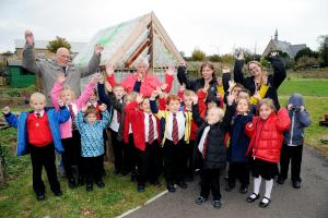 Youngsters build novel greenhouse
